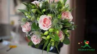 Букет из розовых роз сорта Свит Аваланж