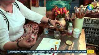 Уроки рисования для начинающих: рисуем картину маслом за несколько минут.(укет весенних тюльпанов можно нарисовать без подготовки даже начинающему живописцу. Для этого понадобятся..., 2016-04-15T06:23:47.000Z)