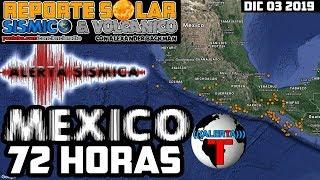 ALERTA SÍSMICA REGIONAL PARA MEXICO -72 HORAS DIC 03-06 2019
