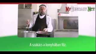 Видео уроки венгерского языка в картинках. Тема - Кухня, приготовление еды