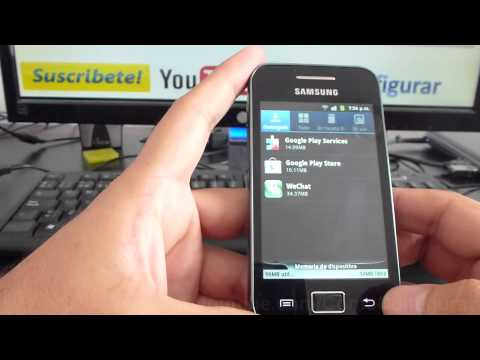 Memoria samsung galaxy Ace gt s5830 español Video Full HD