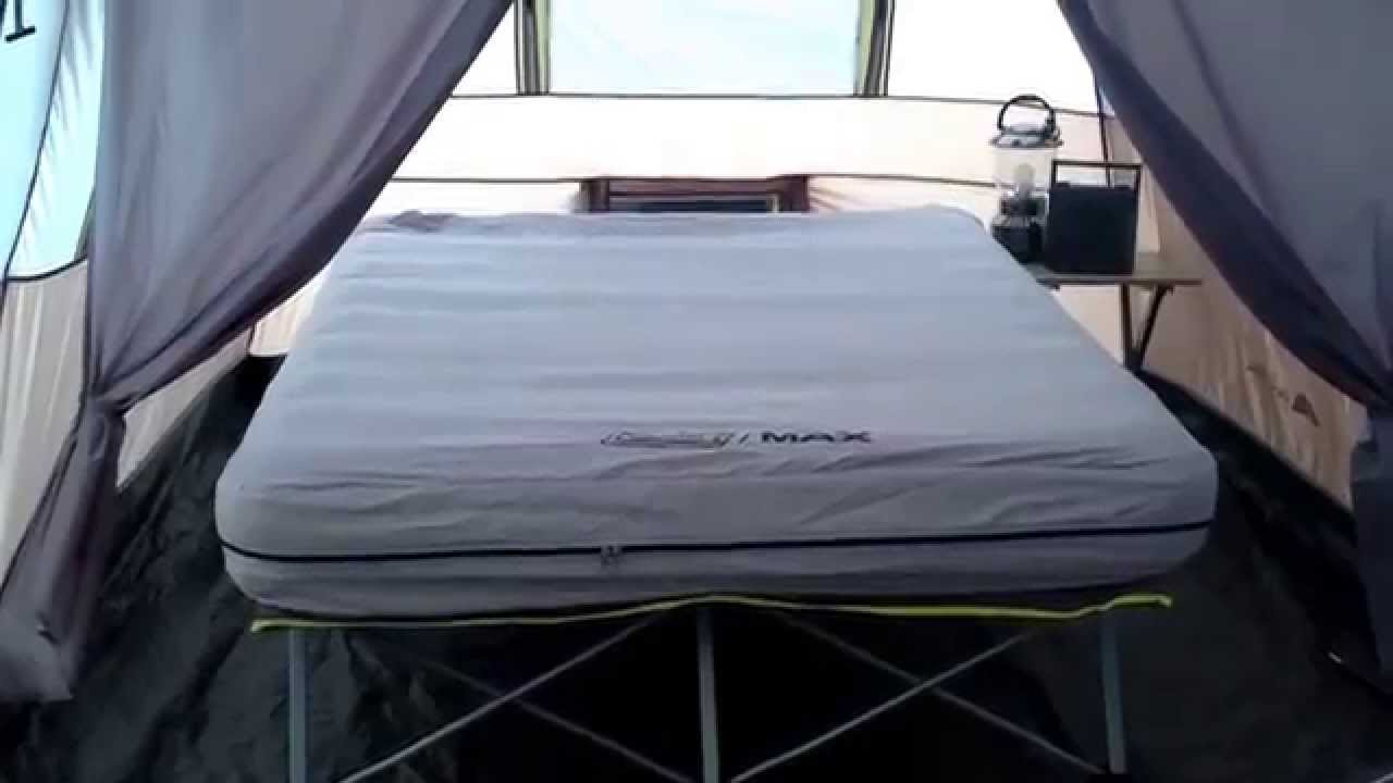 & Coleman Max Pack-Away Air Bed Cot - Queen with Battery Pump - YouTube