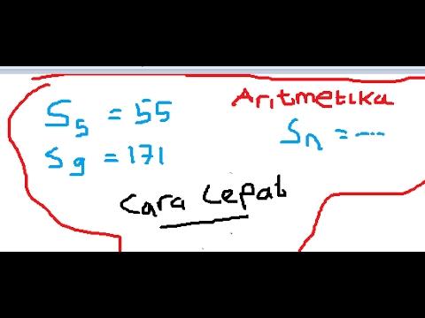 Cara Cepat Menyelesaikan Soal Deret Aritmetika Youtube