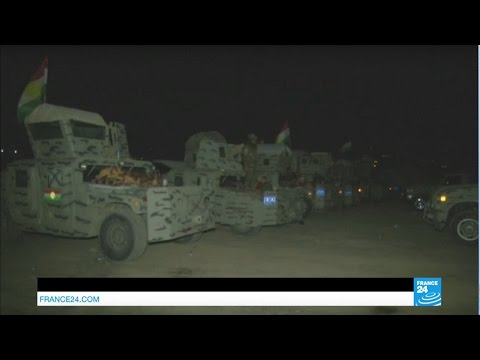 Iraq: Kurdish peshmerga forces prepare Mosul offensive under the cover of night
