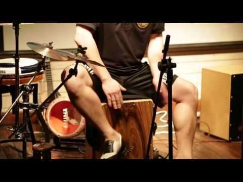 GECKO CAJON, Played with Ukulele by U.F.O Band,cajon drum,
