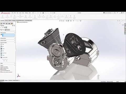 SOLIDWORKS TUTORIAL | V-Twin engine assembly