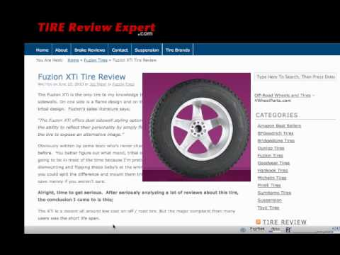 Fuzion Xti Tire Review Tire Review Expert