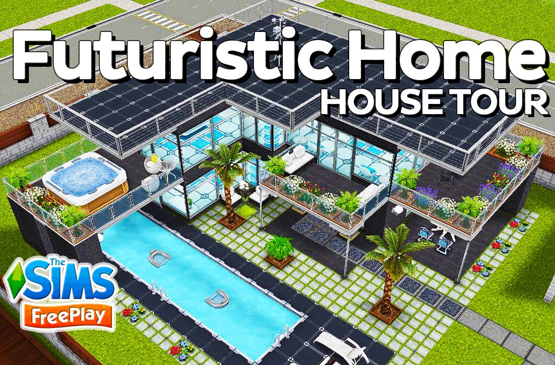 & The Sims FreePlay - Futuristic Home (Original design) - YouTube