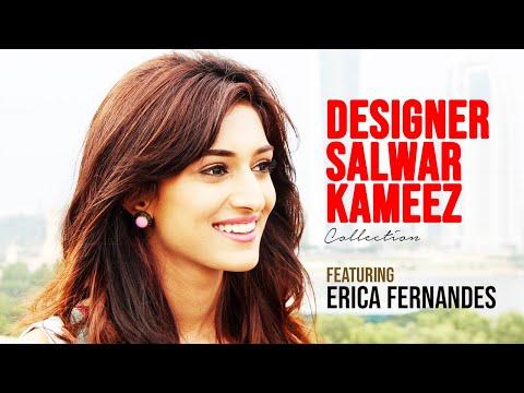 Designer Salwar Kameez Ft. Erica Fernandes  | Indiwear | Omex