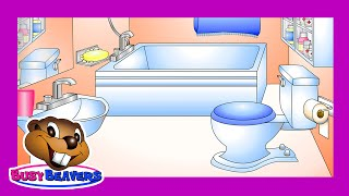 """In the Bathroom"" (Level 1 English Lesson 23) CLIP - English Bathroom Words, Teach Kids ESl"