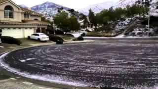 Trabuco Canyon, CA Orange County Ice Storm 12/31/2014