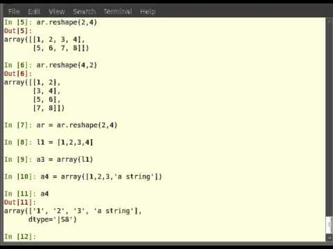 Getting Started With Arrays In Python Tutorial English Youtube