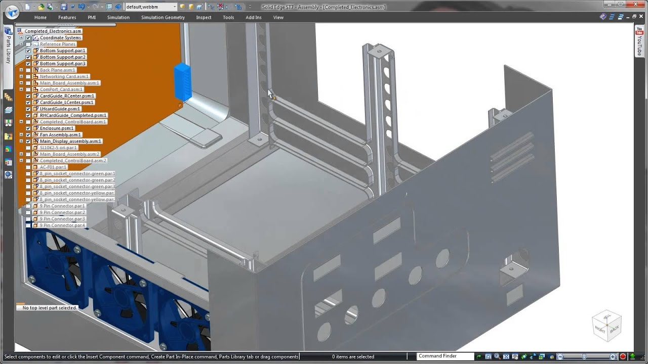 Sheet Metal Design In Solid Edge Enclosures Youtube