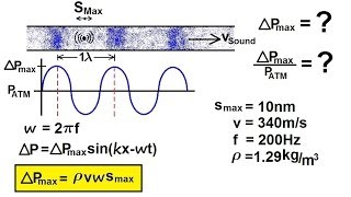 Physics - Mechanics: Sound and Sound Waves (33 of 47) Maximum Pressure in a Sound Wave