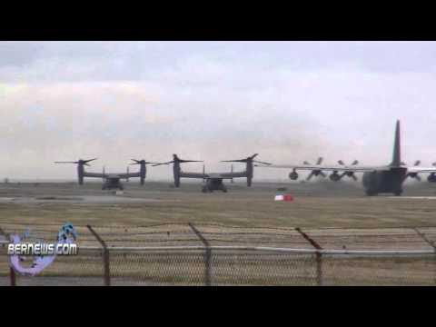 US Air Force Aircraft At Bermuda Airport Mar 22 2011