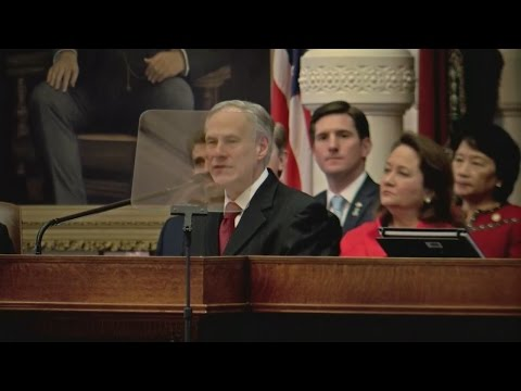 Tx Gov. Greg Abbott Delivers The Texas 'State Of The State' Address