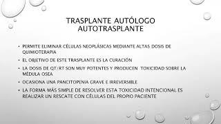 Trasplante de médula ósea - Dr. Martín Saslavsky - 23/10/2020