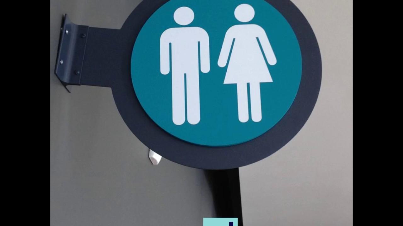 Wholesale ADA Restroom Signs - YouTube