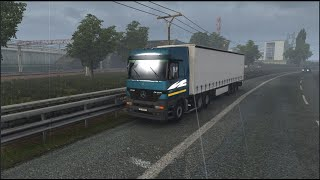 Please Subscribe For More Videos   Details & Download From http://www.modhub.us/euro-truck-simulator-2-mods/mercedes-actros-mp1-edit-1-3/    Standalone truck  - 1 cab - Different types of chassis - Its engines and gearbox - Own salon - Your sound - Custom tuning - Stains - Support for accessories + SISL. Requires a connected SiSL Mega pack - Cable support - Support for flags  - Removed all old chassis to make the model easier - Added 6 chassis options. - Fixed all visible polygons inside. - Fixed the maximum visible polygons on the outside (bumper, grille, cab). - Fixed steering wheel. - Fixed the display of rain when viewed from the passenger compartment. - Fixed the side mirror when viewed from the cab. - Removed 500 MB of junk files. - Updated all the details of the model (pmg files). - Changed some textures for better performance. - Added some improvements. - Added a new spoiler. - Added a front mirror when viewed from the passenger compartment. - Removed some useless / unused / very outdated upgrades.  Changes: = redesigned all chassis options added rear wing options added silencers recycled plastic bumper / front fender fixed dashboard light fixed inner glass updated animation for the new rain system updated curb weights on all chassis fixed missing internal glass fixed user interface shadow  other minor fixes throughout the truck     Credit JamesKirk