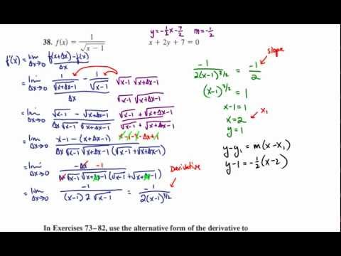 Limit Definition of the Derivative - Tangent Line Parallel to ...
