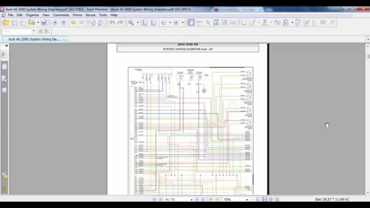 maxresdefault audi a6 2000 system wiring diagrams youtube Audi Wiring Diagram 1999 at edmiracle.co