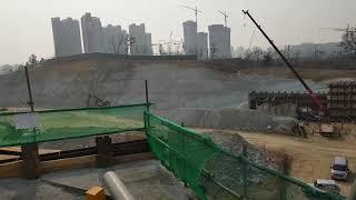 동탄역 경부고속도로지하화공사현장