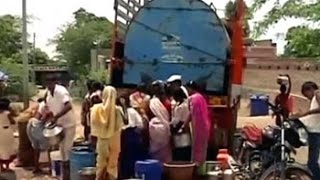 What happens when water tankers reach a drought-hit Marathwada village