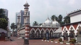 Masjid Jamek in Kuala Lumpur, Malaysia (マレーシア クアラ・ルンプールのマスジッド・ジャメ)