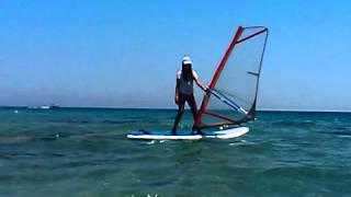 Первый урок сёрфинга ! Я в Египте