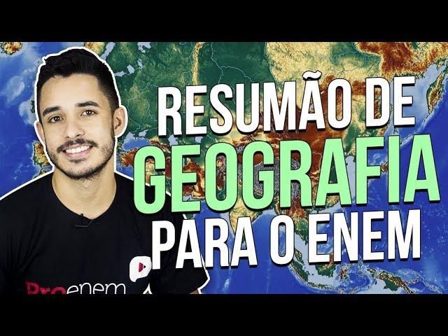 5 TÓPICOS MAIS IMPORTANTES DE GEOGRAFIA PARA O ENEM   Prof. Leandro Almeida