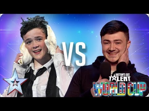 George Sampson Vs Wayne Woodward | Britain's Got Talent World Cup 2018