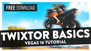 How To Get Smooth Slow-mo With Twixtor  24/30 Fps Clips  -  Vegas Pro 16 Tutoria