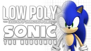 Sonic The Hedgehog - Low Poly (Evolution of Characters in Games) - Episode 2