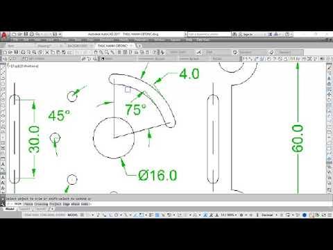 Thực hành vẽ AutoCAD 2D  | Bài tập 38