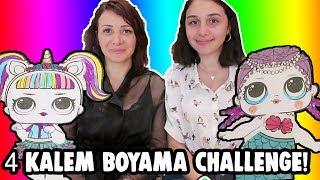 LOL Sürpriz 4 Kalem Boyama Challenge En Pahalı Orijinal LOL Bebek Kitabı! Bidünya Oyuncak 🦄