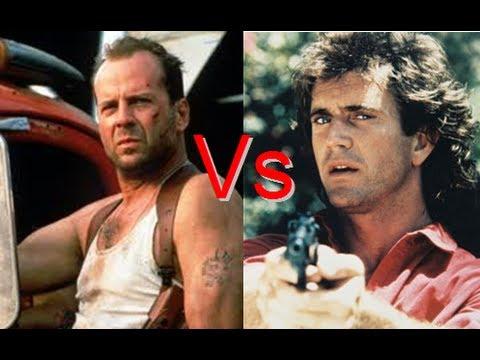 Bruce Willis Vs Mel Gibson - Queda de Braço #2