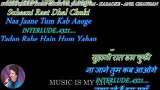 Suhani Raat Dhal Chuki - karaoke With Scrolling Lyrics Eng. & हिंदी