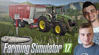 Zbiór trawy w przyczepę na MP MAP v4 ☆ Farming Simulator 2017 MP #1 ㋡ Bronczek & MrAdamo15
