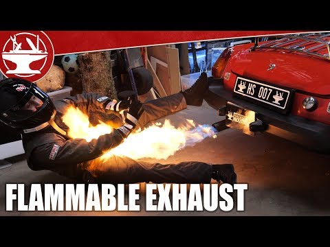 Spy Car Flamethrower Exhaust!