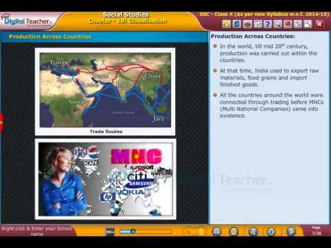 Digital Teacher SSC Class X Social Production Across Countries
