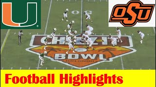 Oklahoma State Vs Miami Football Bowl Game Highlights 12 29 2020