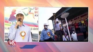 Sports To Reduce Mental Pressure, says Karimnagar CP VB Kamalasan Reddy | V6 News
