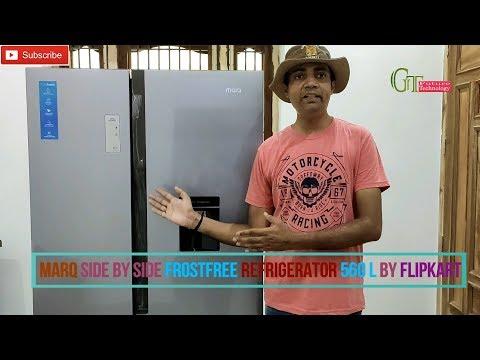 Marq Side By Side Frost Free Refrigerator 560 L By Flipkart | MarQ 560 L Refrigerator Installation