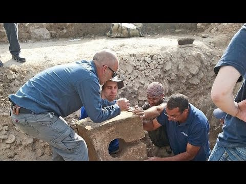 Archaeologists discovered a symbolic toilet from the 8th century BC found in Tel Lachish.