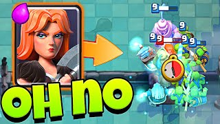 LOL! FUNNY MOMENTS with CLASH ROYALE GRAVEYARD CHALLENGE