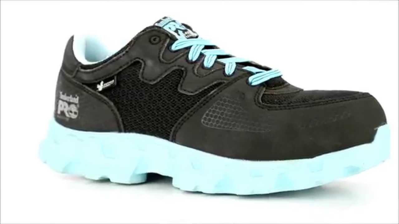 Women s Timberland 92668 Alloy Toe Work Shoe   Steel-Toe-Shoes.com - YouTube 7004e0ba9