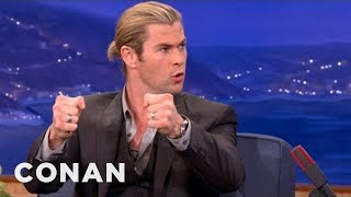 "Chris Hemsworth On ""Snow White And The Huntsman"" - CONAN on TBS"