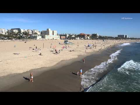 Santa Monica Pier Beach in 4K resolution.