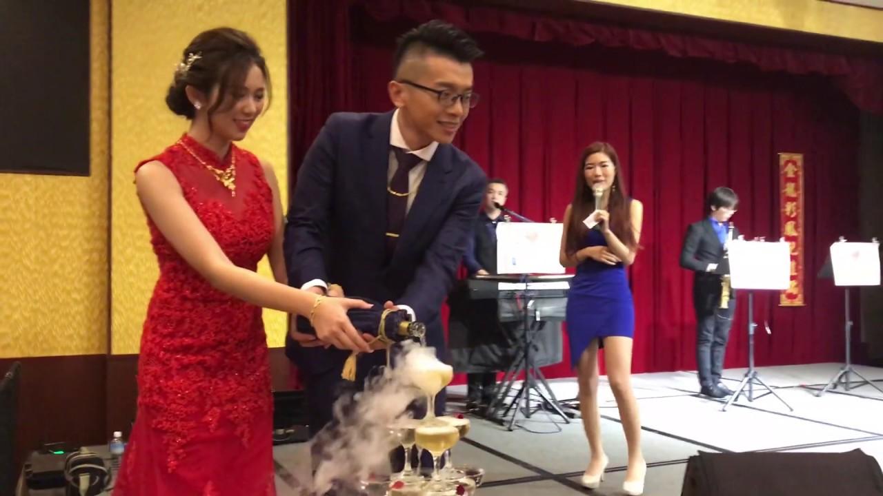 【Sandy婚禮企劃】新人文訂浪漫香檳塔儀式@雲林劍湖山王子飯店0911552966