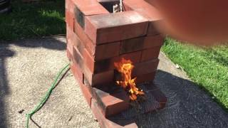 Brick Rocket Stove Build And Water Boil Test vs Stove Top